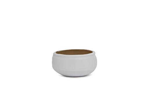 Giftsbymeeta Round White Planter GIFTS6502