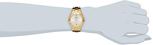 fc951f0e2240 Lotus Reloj de cuarzo para mujer con plata esfera analógica pantalla y  pulsera chapado en oro de acero inoxidable 15897 1