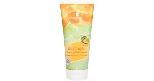 BIOTURM - Gel détergent doux à effet hydratant - Laissant la peau douce et lisse - Son délicat parfum de Mangue a un effet calmant - 200 ml