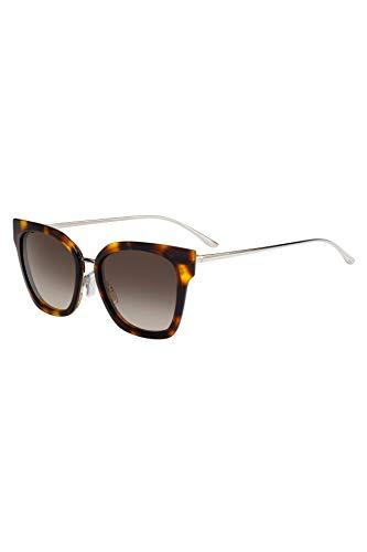 BOSS Hugo Damen 0943/S HA 086 Sonnenbrille, Braun (Dark Havana/Bw Black Brown), 53