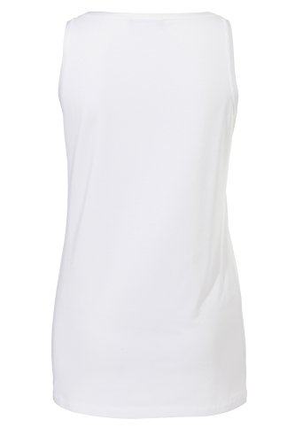 passport Damen Softes Kombi-Top mit Karree-Ausschn White