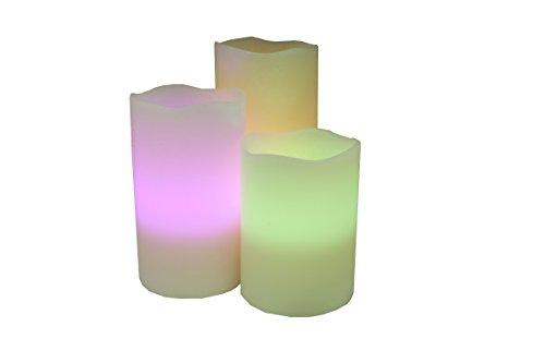 Anilar C3374 - Set de velas con batería, plástico, multicolor