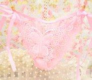 RRRRZ*Geschmack der Versuchung und sexy Unterwäsche spitze Frau transparente Unterwäsche Butterfly Festival T-Stücke für Erwachsene hose Durchleuchtung , String , Code Pink