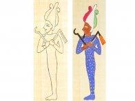 Lesezeichen-Kreativset, Motiv Ägyptischer Gott Osiris, 1 Lesezeichen -