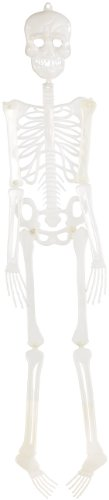 infactory Halloween-Dekos: Glow-in-the-dark Halloween-Deko Skelett, 90 cm (Halloween-Party-Dekoration)
