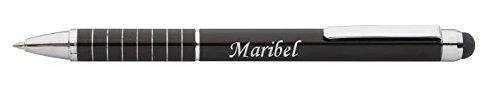 Personalisierte Stift und Touchscreen-Stift mit Aufschrift Maribel (Vorname/Zuname/Spitzname)