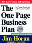 The One Page Business Plan: Start with a Vision, Build a Company! [With Online Information]