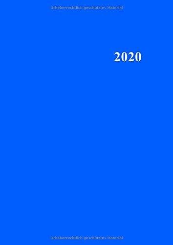 N A4 - Für jeden Tag eine eigene Seite = 366 Tage, 366 Seiten - Liniert - Mit Wochentag und Datum - Blau veredeltes Softcover mit ... als Tagesjournal oder Tages-Terminkalender ()