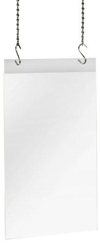 Sigel ta240 porta-avvisi / porta-stampati da parete con 2 fori, per a4, accrilico, trasparente