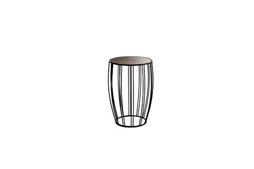 Qriosa Stile Italiano MOD. Bongo Ceramica- Beistelltisch SERVETTO aus Metall