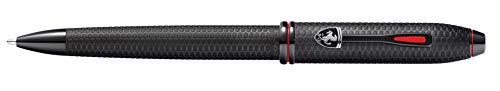 Cross Townsend Collection for Scuderia Ferrari Kugelschreiber (Strichstärke M, Schreibfarbe: schwarz, nachfüllbar, inkl. Premium Geschenkbox) schwarz mit Wabenmuster