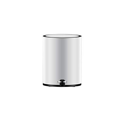 ülleimer Umweltschutz Zu Hause Im Freien 5L Edelstahl Pedal Box (Color : Silver) ()