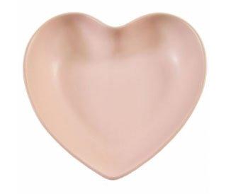 Forme de cœur brillant en céramique Bol d'affichage avec feutre protecteurs–choisissez Rouge, Noir, Blanc ou Vison (Vison)