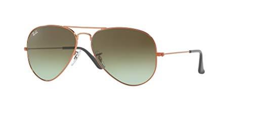 Ray-Ban RB3025 AVIATOR LARGE METAL 9002A6 58M Shiny Medium Bronze/Green Brown Gradient Sunglasses