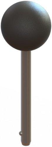 Innovative Components AN8X3750B3-D-21 1.38 Ball Knob w/ 1/2 diameter X 3-1/4 effective length detent pin steel zinc by Innovative Components (Pins Ball Detent)
