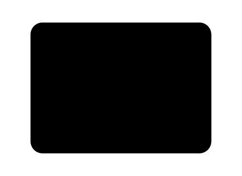 Tuftop klein 30cm x 22cm Glasschneidebrett, schwarz