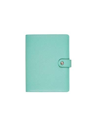 ZXSH Notizbuch Hohldeckel Organizer Office Spiral Ringbuch Planer Agenda Notebooks Und Journal, Glatte Minze - Unternehmen Minze
