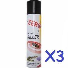 3x BED BUG BUGS KILLER KILL SPRAY AEROSOL 300ML