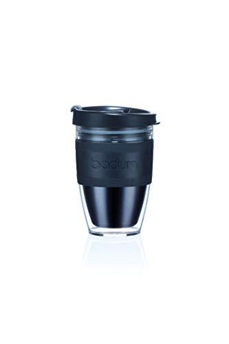 BODUM JOYCUP Travel Mug, Double Wall, 0.3 l, Black Band Tazza da Viaggio, plastica