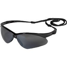 Jackson Safety V30 Nemesis Smoke Mirror Lens Safety Eyewear with Black Frame by Jackson Safety - Black Lab-frame