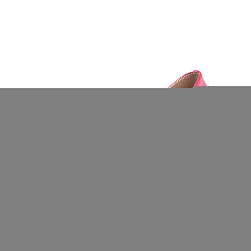 VogueZone009 Damen Spitz Schließen Zehe Mittler Absatz Rein Ziehen Auf Pumps Schuhe Rosa