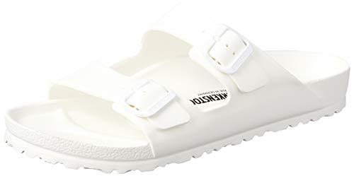 Birkenstock Arizona EVA Unisex-Erwachsene Pantoletten, Weiß (White 43), 44 EU - Weiß Ps über