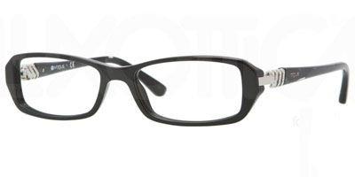 Vogue Brille VO 2709-B W44 Gr.52/16 in schwarz, Kunststoffassung mit Kunststofffassung mit Glitzer und Steinchen
