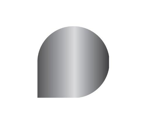 Bodenplatte Stahl grau für Kaminofen/Holzofen