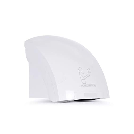 Pivalo Automatic Hand Dryer for Bathroom with Infrared Sensor and No Touch Operation - (1800 Watt)