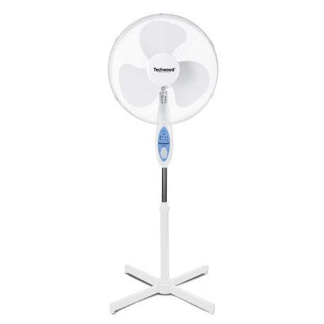 Ventilateur sur Pied Avec Telecommande Blanc