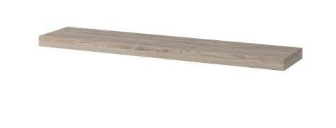 Küchenregal Hängeregal Küchen-Wandregal - 120 cm breit, teilmassiv, Farbe: Natur / Weiß