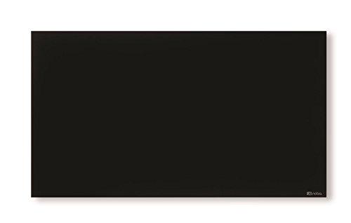 Nobo 1905182 - Pizarra Diamond Glass, magnética, 1883 x 1053 mm, diseño cuadrado, incluye rotulador, imanes y kit de montaje, color negro