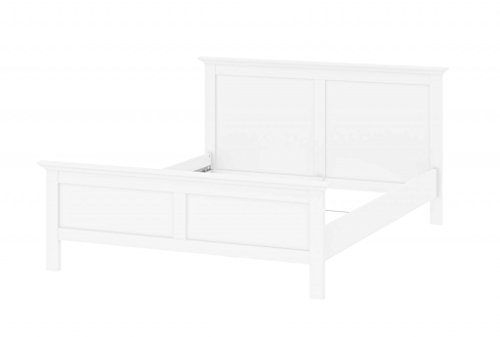 Froschkönig24 Paris Bettgestell 154x203cm Bett Doppelbett Weiß