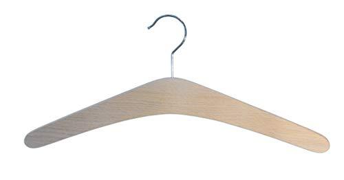 Kleiderbügel aus Holz, 5 St. Garderobenbügel aus Buchenholz, roh (unbehandelt)