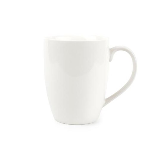 Koleksiyon Kaffeebecher aus Porzellan Fine Bone China 380 ml 6er Set Weiße Fine China
