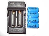 Zantec cargador de batería Ultrafire-4 piezas a estrenar 16340 3.6V baterías recargables más cargador