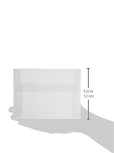 LEADER PAPER PRODUCTS busta Parchlucent pergamena, formato A6, colore: trasparente