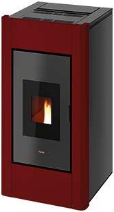 CADEL Idro Prince 30 kW Pelletofen wasserführend Ofen Pellet Kamin Auswahl-Idro-Prince30 Metall-Rot