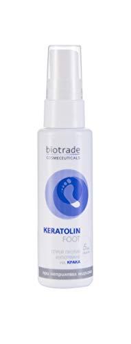 keratolin foot spray 50ml antitraspirante per i piedi protezione di 3 giorni contro la sudorazione e l'odore sgradevole della biotrade