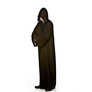 Larga para hombre con capucha Negro del traje de Halloween / de lujo del carnaval de accesorios de vestir