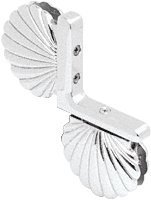 C.R. LAURENCE SHE004SC CRL Satin Chrome Shell 004 Series Inline Panel Mount Hinge by C.R. Laurence -