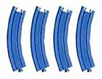Pla curved rail (Pack of 4) R-03 (japan import)