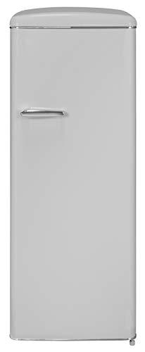 Exquisit RKS 325-16 RVA++GRAU Retro-Kühlschrank/EEK: A++/229 Liter/Retro-Handgriff/LED-Innenbeleuchtung/Grau