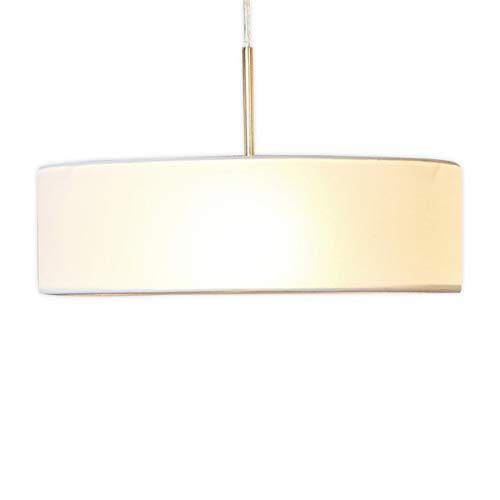 Lampenwelt Pendelleuchte \'Sebatin\' dimmbar (Modern) in Creme aus Textil u.a. für Küche (3 flammig, E27, A++) - Hängeleuchte, Esstischlampe, Hängelampe, Hängeleuchte, Küchenleuchte