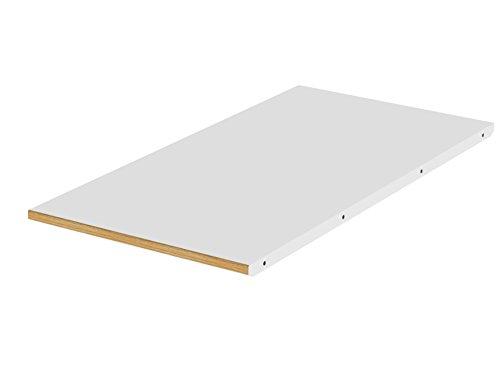 TENZO Dot Designer allonge suuplémentaire MDF/Chêne Massif, Blanc, 45 x 90 x 2,5 cm