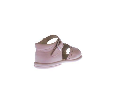 Sandales pour Petites Filles Première Calzadura mod.928. Chaussures Enfant Tous Peau Made in Spain Produit de Qualité. Blanc Cassé - rose