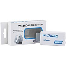 WII zu HDMI Adapter, techken WII zu HDMI Konverter Video Audio Adapter Kompatibel für HD Digital TV, Plasma Display, LCD-Monitor, Beamer, Kamera Hd Plasma