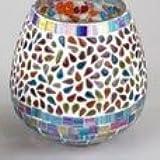 Jarrón mosaico ovalada multicolor cm 14
