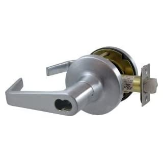 Falcon T581BD D 626 (SFIC) T Series Grade 1 Extra Heavy Duty Cylindrical Chasis Non-Handed Lock, Storeroom Function, Small Format Interchangeable Core, Dane Lever, Satin Chrome Finish