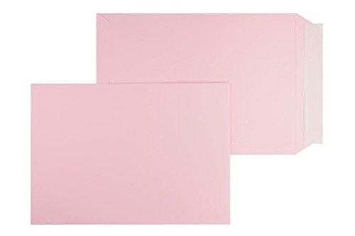 Farbige Versandtaschen | Premium | 220 x 312 mm Rosa (100 Stück) mit Abziehstreifen | Briefhüllen, Kuverts, Couverts, Umschläge mit 2 Jahren Zufriedenheitsgarantie